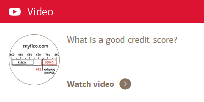 Video: What is a good credit score?